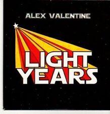 (BC854) Alex Valentine, Light Years - 2010 DJ CD