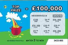 6 Fake Joke lottery scratch cards scratchcards (DESIGN 4)