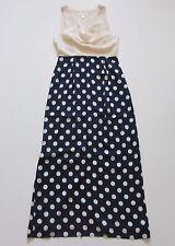 Anthropologie Moulinette Soeurs Great Dot Silk Cowl Neck Sleeveless Maxi Dress 6