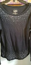 Girl's Top 14 Justice Sequined Black