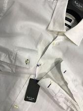 Camicie classiche da uomo polsino singolo bianco in cotone