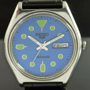 OLD VINTAGE SEIKO 5 AUTOMATIC 6309A JAPAN MENS DAY/DATE WATCH 474a-a238917-9