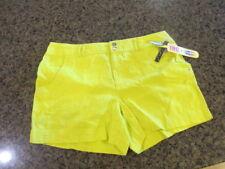 INC International Concepts women's NWT 14 Shorts Linen Rhinestone Regular yellow