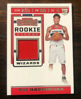 2019-20 Panini Contenders Rui Hachimura Rookie Ticket Jersey Patch Card