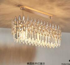modern long LED Luxury Living Room Crystal lamp Chandelier Restaurant light #961