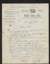 """MEYMANS par HOSTUN (26) FORGES & TAILLANDERIE """"VASSY Ainé & Fils"""" en 1906"""