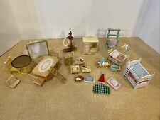 Lot Of Epoch And Other Mixed Doll House Furniture Nursery, Kitchen