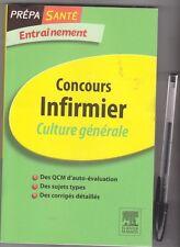 Concours infirmier - Entrainement - culture générale - Masson