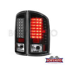 2002-2006 Dodge Ram 1500 2500 3500 Black [High Power] LED Tail Lights Brake Lamp