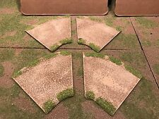 """28mm, 5"""" 1/8 turn road sections,  4pc,  PAINTED"""
