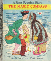 Vintage Little Golden Book MARY POPPINS THE MAGIC COMPASS 1st Edition