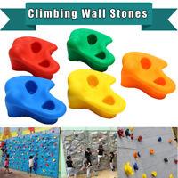 Children's Climbing Wall Stones Holds Hand Feet Starter Kit Bolt On Rock Holder