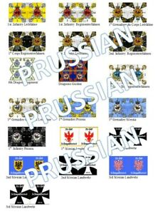 1/72 Napoleonic Prussian Flags lot