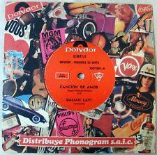 "DALIAH LAVI 7"" PROMO Love's Song SUNG IN SPANISH Southamerica Ed. 1970"
