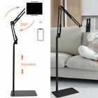 Adjustable Floor Stand Universal 360-Degree Rotatable Metal Phones Tablet Holder