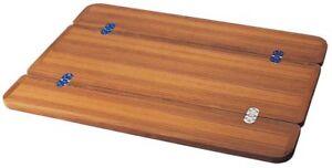 Teak Tischplatte versch. Größen Klapptisch Bootstisch Boot Tisch Wohnmobil