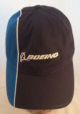 BOEING BASEBALL CAP HAT Adjustable 100% COTTON Metallic Thread Velcro Strap