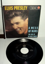 """ELVIS PRESLEY  A MESS OF BLUES  7"""" THE GIRL OF MY BEST FRIEND  ITALY 1960"""
