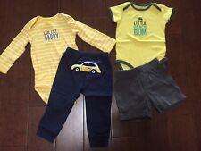 Carter's Baby Boy Bodysuits Pants Shorts Lot Of 4 Size 18 Months 18M Beach Surf