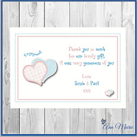 10 x PERSONALISED ENGAGEMENT BIRTHDAY  THANK YOU  CARDS  FOR MY GIFTS THANKS