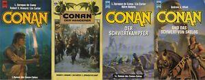 4 x CONAN der Barbar : Conan, Wanderer, Schwertkämpfer, Schwert von Skelos,Heyne