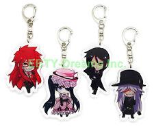 Set of 4 Black Butler Anime Acrylic Keychain Sebastian Ciel Undertaker Grell