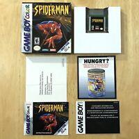 Spiderman Nintendo Gameboy Color Complete CIB W/ Box Manual Inserts Excellent