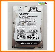 """Disque Dur Western Digital Noir 500 GO 7200RPM 2.5"""" Hdd Sata WD5000BEKT"""