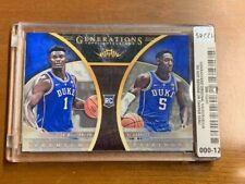 2018-19 Rare #3/20 Zion Williamson/RJ Barret Custom Rookie Card Duke Mint!