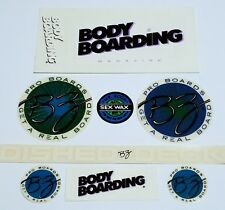 Bz Bodyboards Magazine 7 Vintage Stickers Boogieboard Vt 00004000 G Morey Decal Surfboard