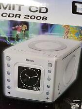 CD Radio uhrenradio küchenradio mit cd player kinderzimmer silber