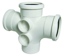 Floplast 110mm White Soil Double Branch Pipe Fitting