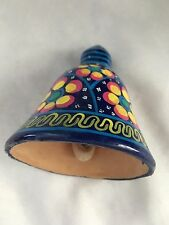 "Multicolor Terracotta 3.5"" Painted Bell Ornament"