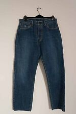 DIESEL 34x31 Max Grade Blue Jeans - Made in Italy ~ Straight Leg Button Fly
