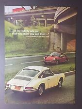 1967 Porsche 911 912 Showroom Advertising Sheet RARE!! Awesome L@@K EXCELLENT