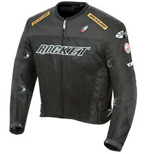 Joe Rocket UFO 2.0 Mesh Street Sport Bike Motorcycle Jacket LRG Black/Black