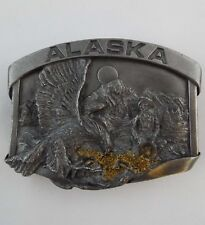 Alaska Gold Rush 1984 Siskiyou Belt Buckle Bergamot Brass Works