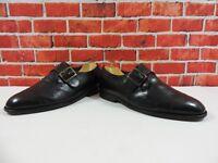 Church's Masterclass Men's Shoes Black Leather Monk Buckle UK 6.5 US 7.5 EU 40.5