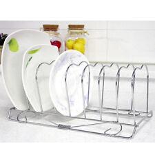Stainless 8 Pcs Dish Storage Dish Drying Rack Dryer Kitchen Storage Holder NEW