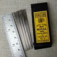 2x (50 Pcs) No 5 (Double Long) Hand Sewing Needles Assorted Handcraft Best ROYAL