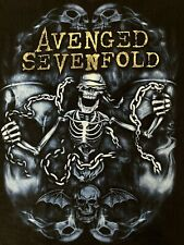 Black Avenged Sevenfold Nightmare Christmas 2011 Concert Band Tour Shirt Large