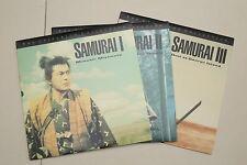 Samurai Trilogy 1,2,3 Criterion #176 177 178 Laserdisc LD Hiroshi Inagaki