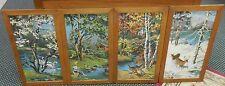 Vintage 4 Seasons Paint by Numbers scenic oil paintings wildlife set EXCELLENT!
