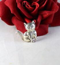 Sterling Silver By Jewel Art Kitty Cat 6.41g Pin Brooch   CAT RESCUE