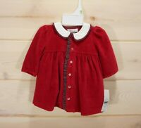 NWT American Living Baby Girl 3M Dress Diaper Cover Set Red Velvet Plaid Holiday