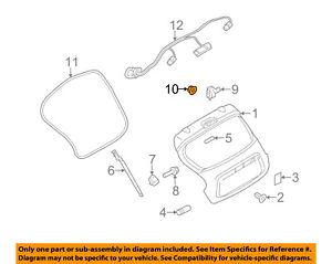 NISSAN OEM 11-16 Juke Liftgate Tailgate Hatch-Hinge Nut 0122500521