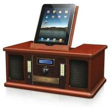 Innovative Technology Vintage Classic Wood Stereo (w/iPad-iPod-Dock) CD FM Radio