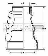 First Line FCB2122 CV Boot Kit VW