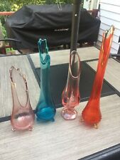 New Listing4 Swung Glass Vases