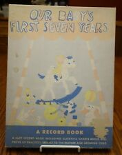 """Vintage 1943 Baby Record Book """"Our Baby's First Seven Years"""" Unused Original Box"""